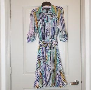 Diane Von Furstenburg Sheer Wrap Dress